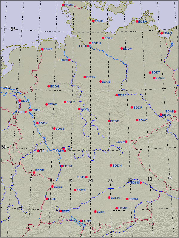 Flughäfen Deutschland Karte.Wetter Und Klima Deutscher Wetterdienst Luftfahrt