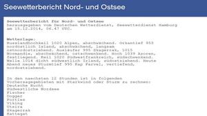 Seewetterbericht Nord- und Ostsee (Quelle DWD)