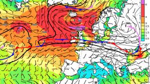Karte Wind- und Seegangsvorhersage (Quelle DWD)