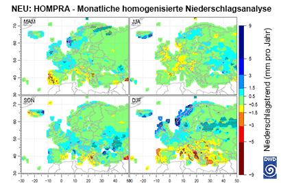 WZN: Monatliche homogenisierte Niederschlagsanalyse online (Quelle Deutscher Wetterdienst 2017)