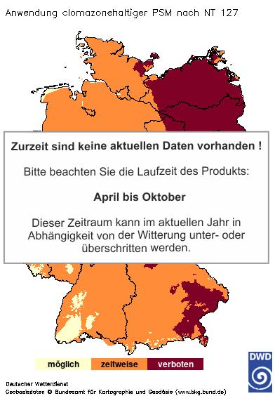 Aktuelles Agrarwetter: Clomazone PSM