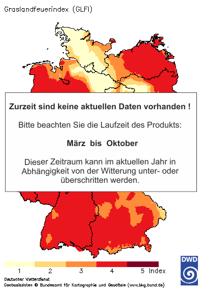 Aktuelles Agrarwetter: Grasland - Feuerindex (GLFI)