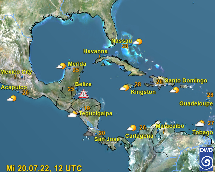 Wetter Karibik März