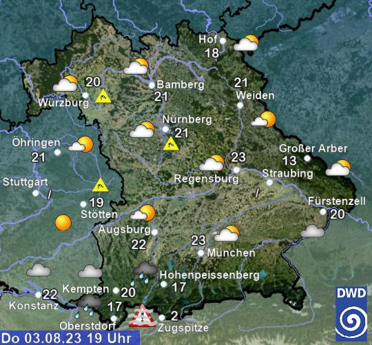 Beobachtungen Bayern