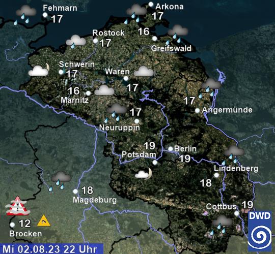 Wetterkarte (C) DWD