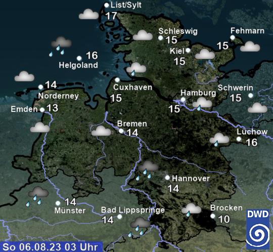 Hier klicken: Paddelwetter in Niedersachsen