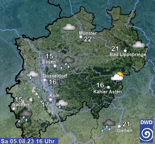 Überblick über die aktuelle Warnlage in NRW
