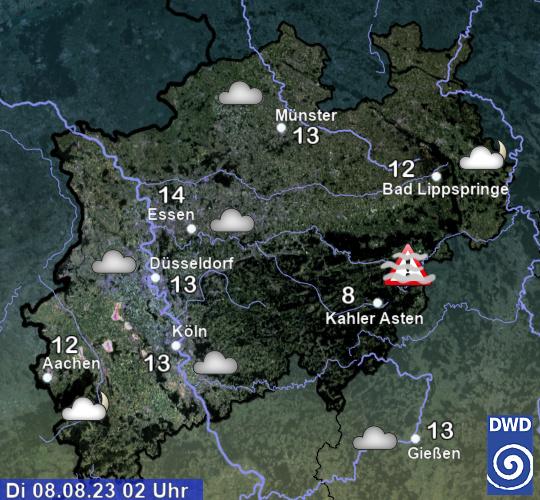 Aktuelle Beobachtungen Nordrhein Westfalen: