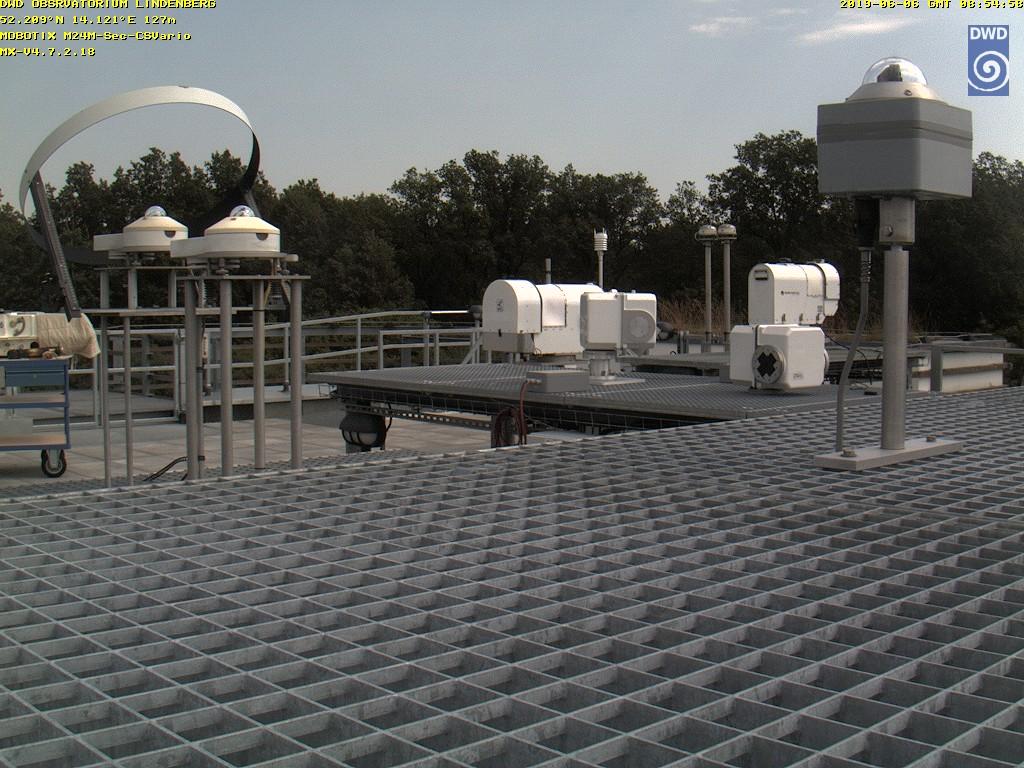 aktuelles Wetter in Lindenberg, Klick vergrößert (Webcam MOL Lindenberg (Strahlungszentrale))
