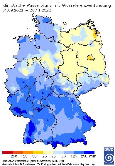 Wasserbilanz Herbst