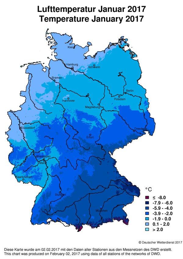 Wetter Und Klima Deutscher Wetterdienst Climate Monitoring - Germany map 2016