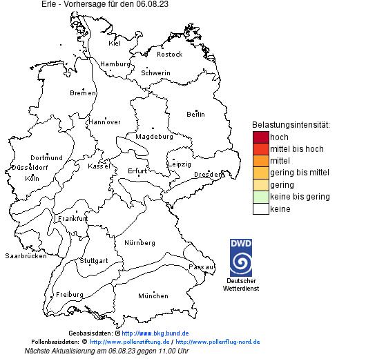 ausgewähltes Produkt zur Leistung: Pollenflug-Gefahrenindex