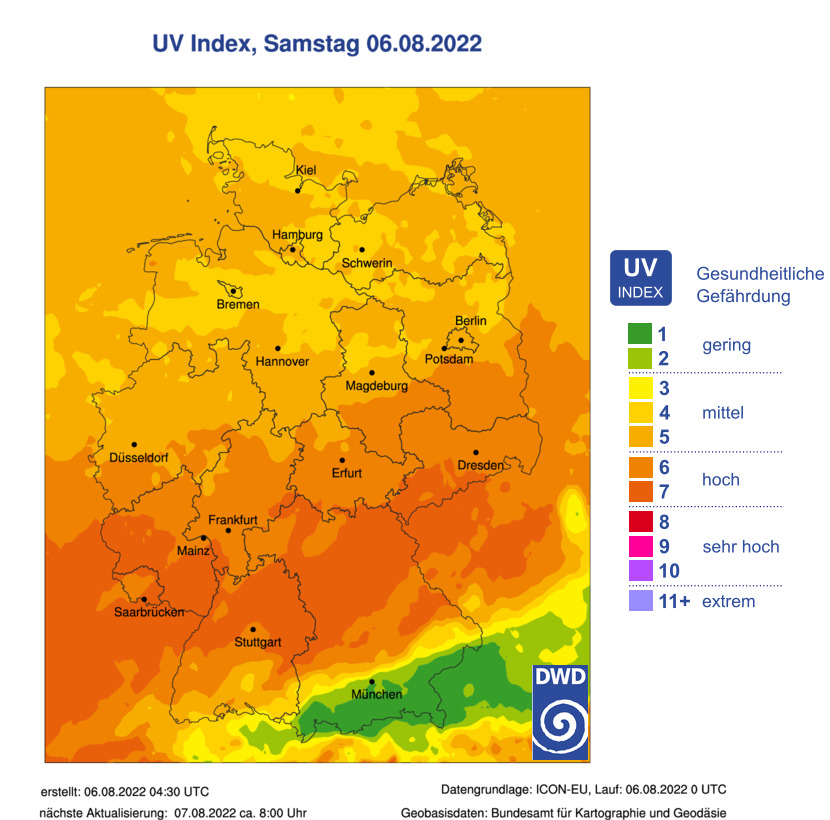 UV Index Deutschland (DWD)