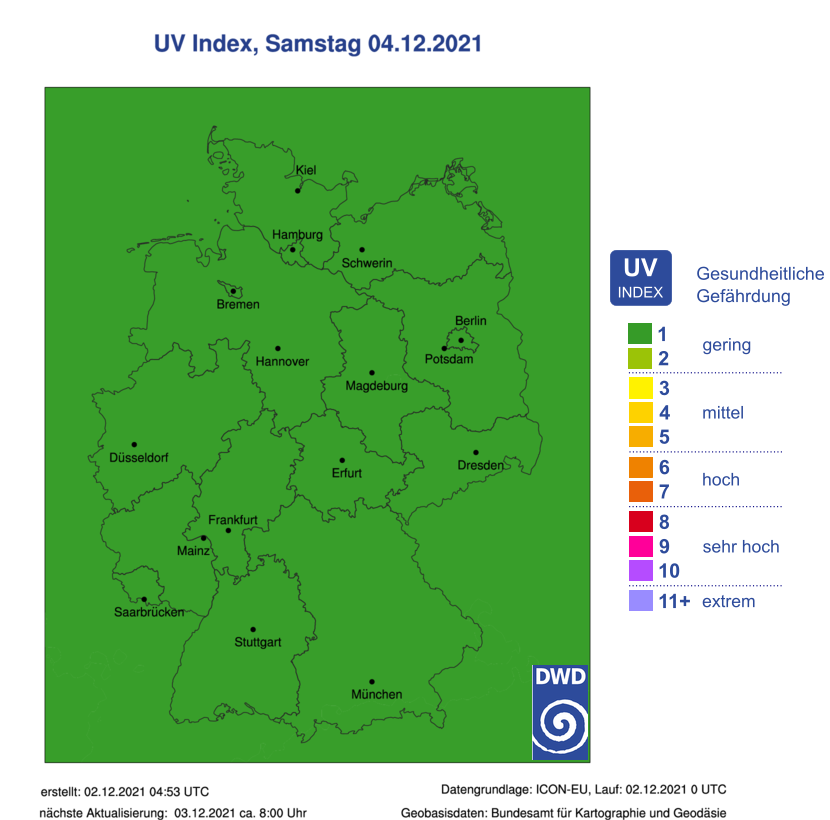 UV-Index - Morgen