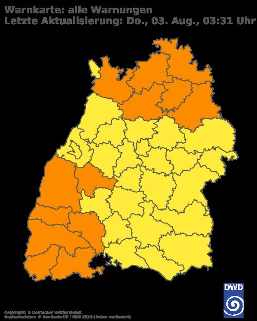 DWD Wettermap BW