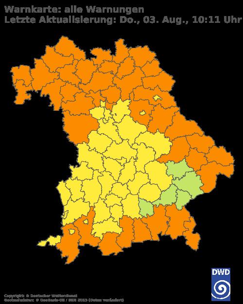 Unwetterwarnung Bayern