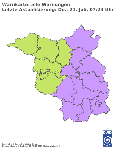 Aktuelle Wetterwarnungen für Cottbus
