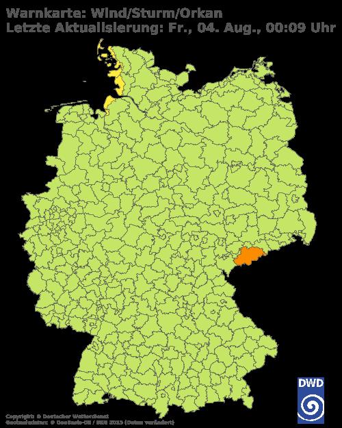 Sturmwarnung Orkanwarnung für Deutschland