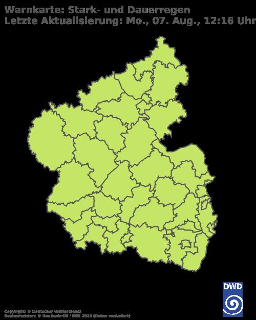 Deutscher Wetterdienst - Wochenvorhersage Wettergefahren - Rheinland - Pfalz/Saarland