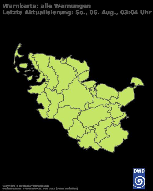 Aktuelle Wetterwarnungen für Dithmarschen - Küste