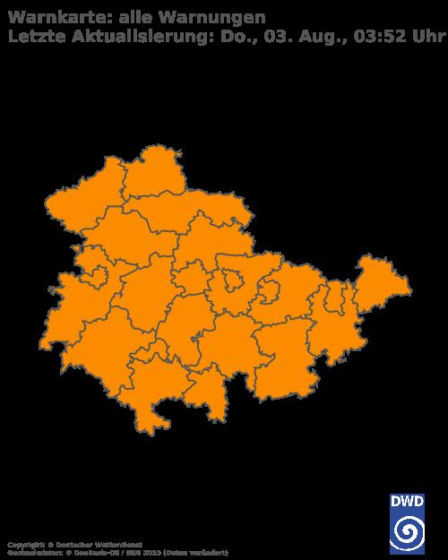 Aktuelle Wetterwarnungen für Nordhausen
