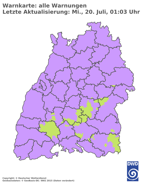 Wetterwarnung Baden-Württemberg