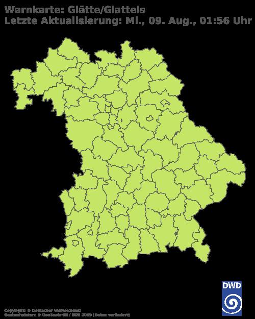 Glatteiswarnung für Bayern