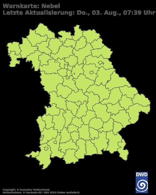 Nebelwarnungen für Bayern