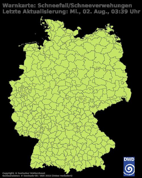 Aktueller Schneefall in Deutschland