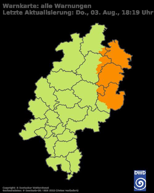 DWD Unwetter Hessen