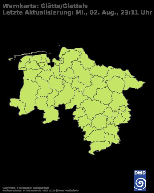 Glatteiswarnung für Niedersachsen