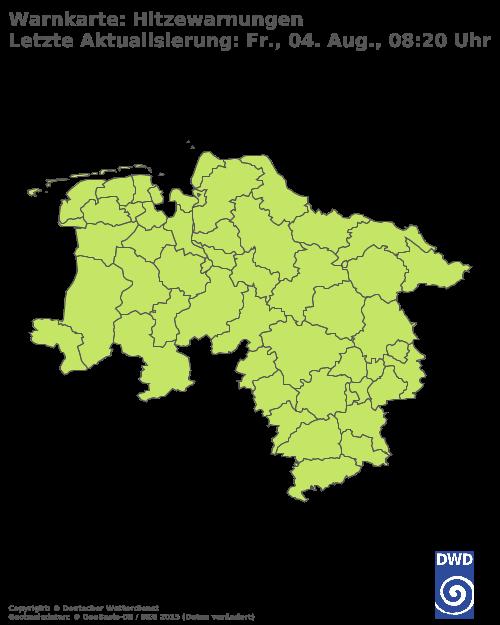Hitzewarnungen für Niedersachsen