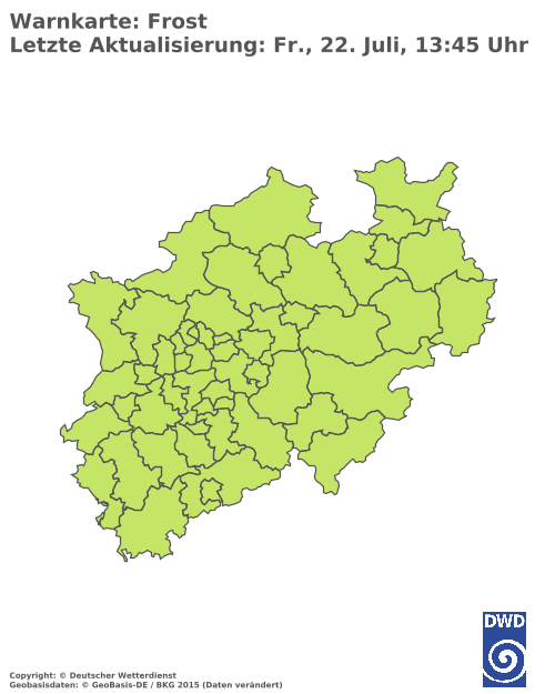 Frostwarnungen für Nordrhein-Westfalen