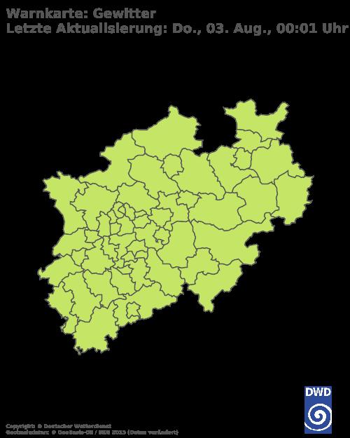 Gewitterwarnungen für Nordrhein-Westfalen