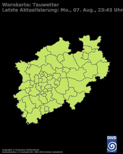 Tauwetterwarnungen für Nordrhein-Westfalen
