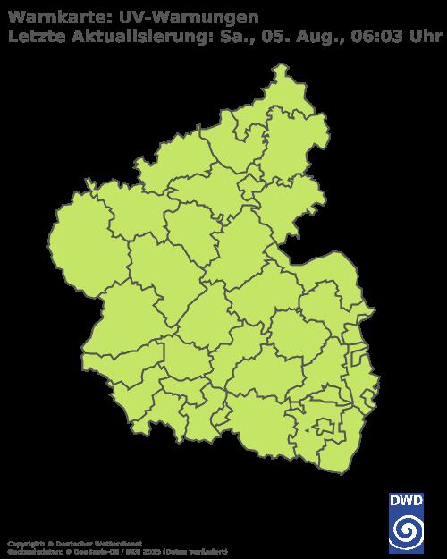 UV-Warnungen für Rheinland Pfalz