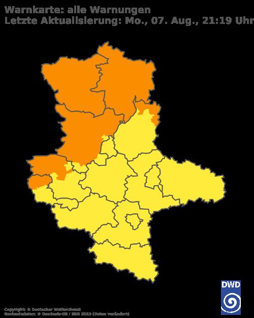 Unwetterkarte Sachsen-Anhalt
