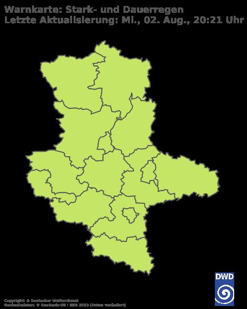 Starkregenwarnungen für Sachsen-Anhalt