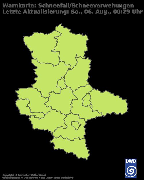 Schneefall & Schneeverwehungen für Sachsen-Anhalt