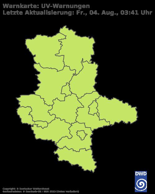 UV-Warnungen für Sachsen-Anhalt