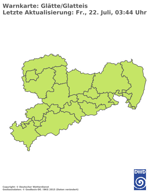 Glatteiswarnung für Sachsen