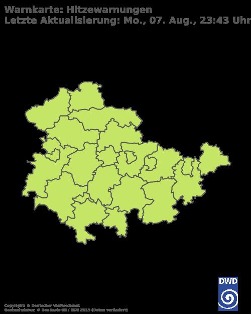 Hitzewarnungen für Thüringen