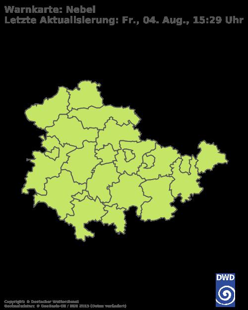 Nebelwarnungen für Thüringen