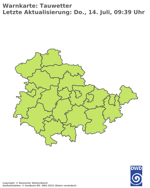 Tauwetterwarnungen für Thüringen