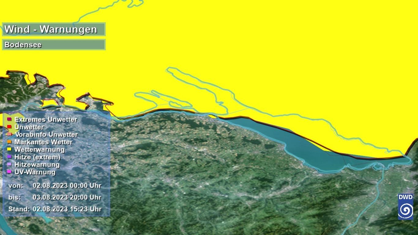 Wetterkarte Bodensee