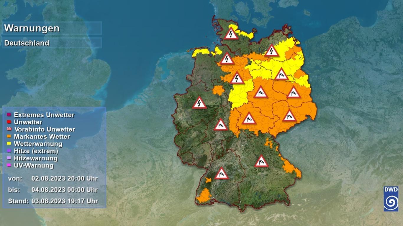 Wetterkarte für die Bundesrepublik Deutschland