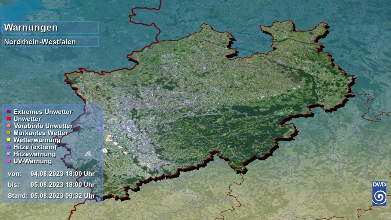 Unwetterwarnungen in Nordrhein-Westfalen