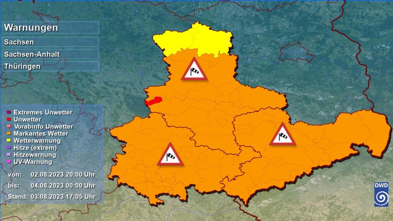 Unwetter Sturmwarnung Unwetter für Sachsen Anhalt