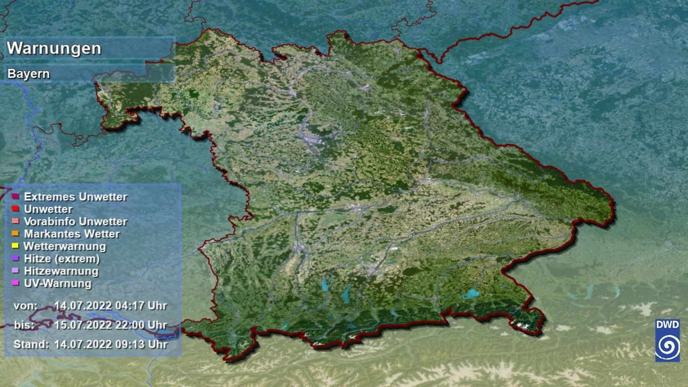 Unwetter Warnung Bayern