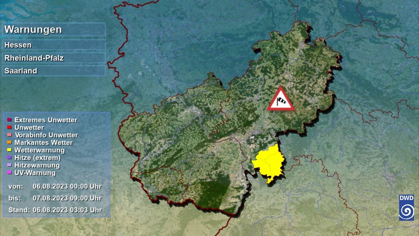 Unwetter Sturmwarnung Unwetter für Rheinland Pfalz